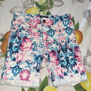 Tractor Bermuda Pink & Blue Stretch denim shorts 8